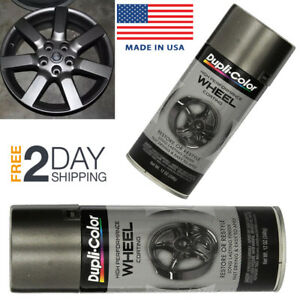 Automotive Aluminum Wheel Spray Paint Graphite Perfect Match Rim Clear Car Coat