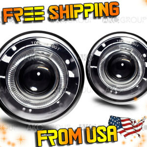 Fits 2004 2010 Jeep Grand Cherokee Clear Halo Projector Fog Lights