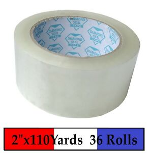 36 Rolls Carton Sealing Clear Packing Shipping Box Tape 2 X 110 Yards