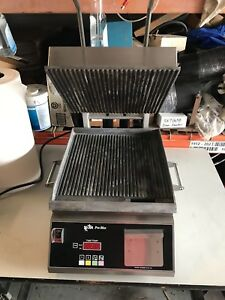 One 1 New Star Pro max Panini Grill Digital Time temperature 14 Excellent