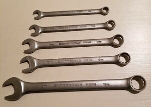 Matco Silver Eagle 9mm 11mm 14mm 15mm 19mm Combination Wrenchs Lot Of 5
