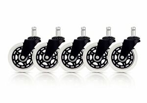 Office Chair Caster Wheels Replacement set Of 5 Heavy Duty Safe For