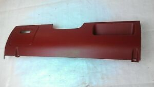 1992 1993 F150 F250 F350 Bronco Red Lower Dash Column Cover Knee Panel Fuse Trim