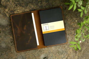 Leather Notebook Cover For Moleskine Classic Notebook Large Size Retro Leather