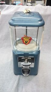 1940 1950 Coin Op Oak Acorn Vintage Bulk Vending Candy Nuts Gumball Machine