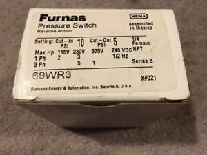 New Furnas 69wr3 Pressure Switch Air Compressor