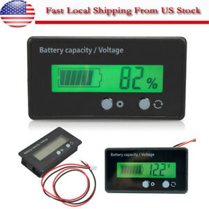 Lcd Display Acid Lead Lithium Battery Capacity Indicator Voltage meter Tester