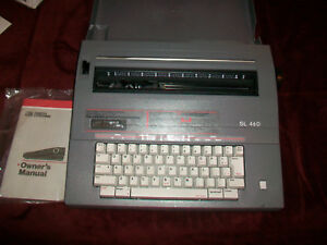 Smith Corona Sl460 Electric Typewriter Portable With Cover And Manual