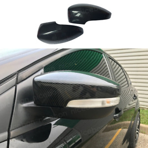 2pc Carbon Fiber Color Rearview Mirrors Cover Cup Fit For Ford Focus Rs St Mk3