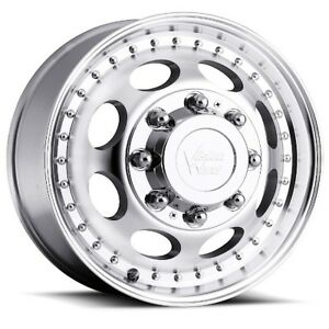 19 5x6 75 Vision 181 Hauler Dually 8x165 1 Et102 Machined Rims set Of 4