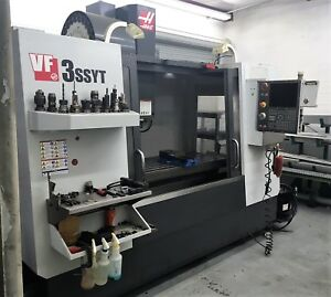 Haas Vf 3ssyt 12k Rpm Probing High Speed Machining 4th Axis Drive