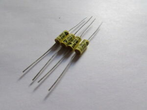 0 01uf 400v 20 Vishay Roderstein Metallized Polyester Axial Capacitors 4pcs Usa