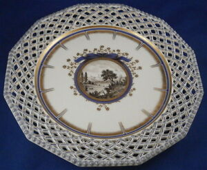 Nymphenburg Porcelain Pearl Or Kings Service Reticulated Plate Porzellan Teller