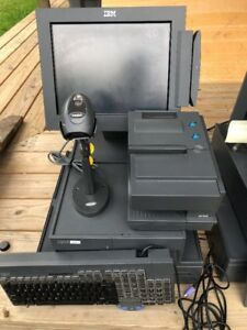 Ibm Pos Point Of Sale System Printer 4610 Th4 Scanner Ls4208 Monitor 4820 1