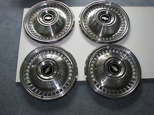 New Set Of 4 Nos Genuine Gm Chevy 71 72 Impala 15 Hubcap Wheel Covers 994160