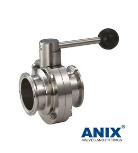 1 1 2 Inch Tri Clamp Sanitary Butterfly Valve Stainless Steel 316l Pull Handle