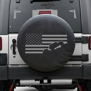 Jeep Flag Tire Cover Jeep Tire Cover Gray Print Fits 30 32 Tires