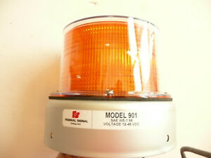 Federal Signal 211740 02 Amber Strobe Model 901 12 48 Volts Dc