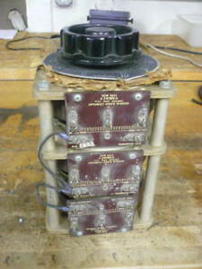 General Radio Variac 3 Phase 350 Hz 240 Volts 20 Amps 8 3 Kva