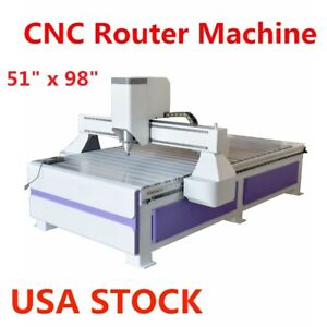Us Stock 51 X 98 1325 Ad And Woodworking Cnc Router Machine With 3kw Spindle