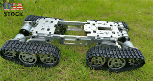 Wzy569 Intelligence Rc Tank Car Truck Robot Chassis Cnc Alloy Body 4 Motors