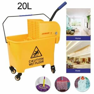 Mini Press Commercial Mop Bucket Wringer 20l 5 2 Gal Yellow Commercial Combo Bp