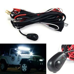 40a 12v Led Driving Fog Lights Universal Wiring Harness Relay On Off Switch
