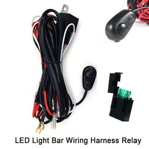 40a 12v 9ft Relay Wiring Harness Kit On Off Switch For Jeep Led Fog Light Bar