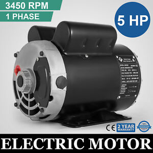 Electric Motor 5 Hp Spl 3450 Rpm Compressor 1 Ph 5 8 Shaft 230vac Waterproof