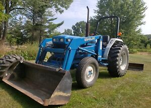 1996 New Holland 1920 4x4 Diesel Tractor W Loader Attachments Ford 4wd Diesel