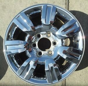 18 Inch 2009 2010 2011 12 2013 Ford F150 Truck Oem Chrome Clad Wheel Rim 3785 B