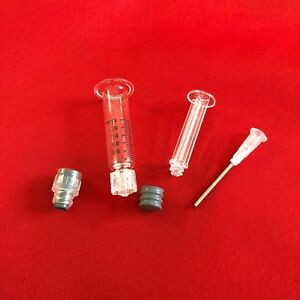 Lot 1ml Borosilicate Luer Lock Glass Syringe W Tip