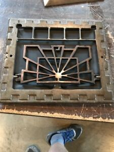 R 5 Antique Deco Floor To Wall Heating Grate 11 7 8 By 13 75