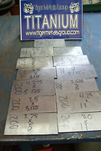 Titanium Plate 6al 4v 250 Thickness 4 X 10 375 27 As