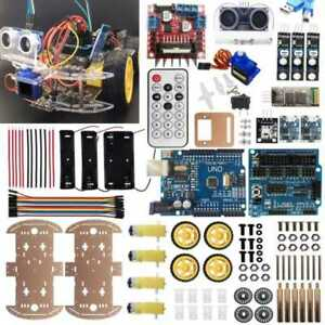 For Arduino 4wd Robot Kit Autonomous Ir Obstacle Avoid Line Tracking Android Pri