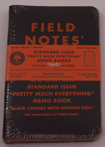 Field Notes Limited Edition pretty Much Everything Sealed Eeek 3890 Of 5000