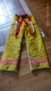 Jamesville Firefighter Turnout Pants Insulated 34 X 32 W Suspenders