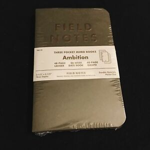Field Notes Fnc 25 Ambition Winter 2014 Brand New Sealed 3 pack