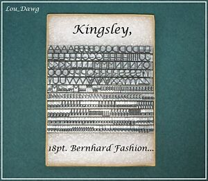 Kingsley Machine Type 18pt Bernhard Fashion Hot Foil Stamping Machine