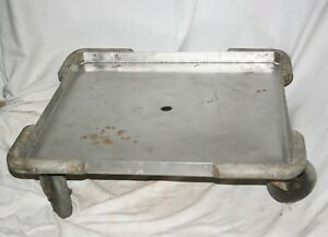 Heavy Stainless Steel Square Commercial Kitchen Butcher Shop Rolling Dolly Cart