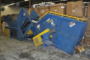 Hustler All Metal Conveyor System For Recycling Baler Of All Types Of Material