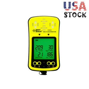 As8900 Gas Monitor Detector As8900 Co O2 H2s Oxygen Gas Analyzer Meter Usa
