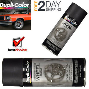 Automotive Wheel Rim Spray Paint Gloss Black Perfect Match Clear Car Top Coat