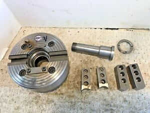 Gamet 6 1 4 2 Jaw Lathe Power Chuck 2 Set Jaws 160 2 pr Hardinge C25 d 5c Mount