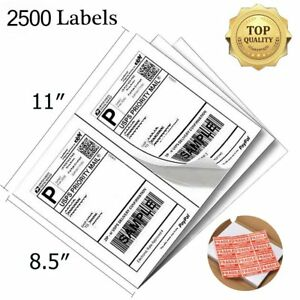 2500 Shipping Labels 8 5x5 5 Half Sheet Self Adhesive Direct Corner Usps Fedex