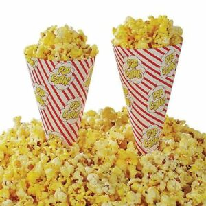 Gold Medal Cone A Corn Popcorn Cup 1000 Ct Concession Stand Vending Food Butter