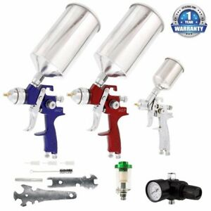 Spray Gun Set Automotive Car Auto Air Regulator Maintenance Kit Paint Primer
