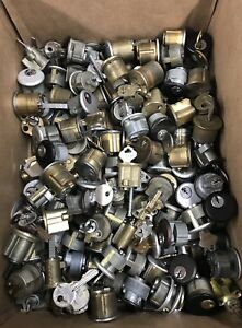 Lot Of Over 130 Cylinders Mostly Used Mortise Rim Cylinders Free Shipping U s