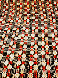 Antique Red And Blue Woven Coverlet From Early 1800 S