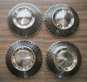 Ford Galaxie Fairlane Ltd Police Fomoco Hubcaps Center Caps Vintage Set Of 4